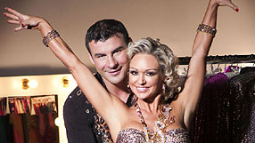 Joe with dancing partner Kristina