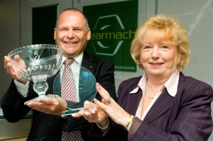 Bearmach Managing Director Peter Whitehouse and International Marketing Executive Gwen Miles.