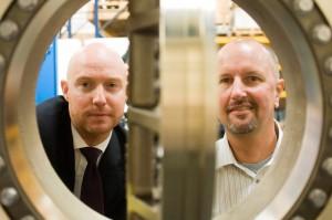 Hobbs Valve Commercial Director Rhys Jones and Managing Director Alun Hobbs.