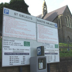 St Gwladys Road 'pay and display' car park is now free until after Christmas.