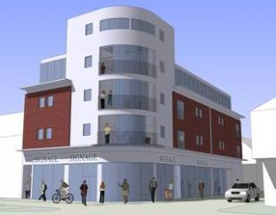 """An artist's impression of the building that could replace the run-down Lawrence House, also known as the """"CoCo""""."""