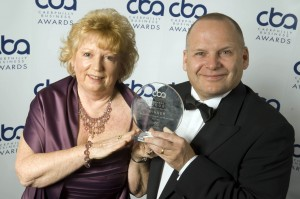 Gwen Miles and Peter Whitehouse, of Bearmach Ltd. Last year's winners of Business of the Year with more than 25 employees.