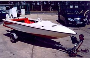 The speedboat was stolen on September 23.