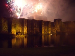 This year's firework display raised almost £4,000 for charity.
