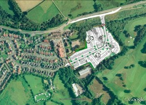 The site of the proposed development at Maesycwmmer.