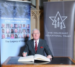 Islwyn MP Don Touhig has signed a Book of Commitment in the House of Commons to mark Holocaust Memorial Day.
