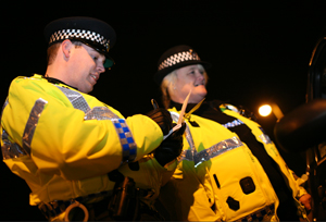 Special Constable Andrew Carnell and Special Constable Christine Smith.