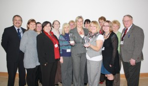 Caerphilly County Borough Council's Schools Catering Service celebrate their award success.