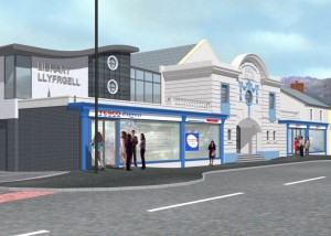 The proposed new Tesco Express store at the Palace Cinema in Risca