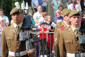 The Royal Welsh Regiment will parade through Caerphilly and Blackwood town centres on Saturday morning