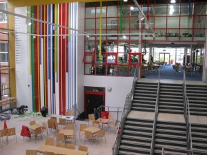 The new building at Ystrad Mynach College