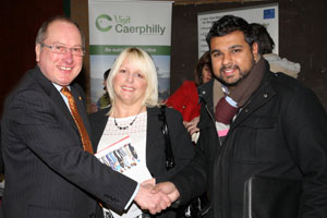 Ron Davies with Gaynor and friend Dham Dhaliwal