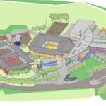 An artist's Impression of the proposed development at the former St Ilan site in Caerphilly