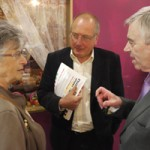 Ieuan Wyn Jones and Ron Davies at Caerphilly Indoor Market