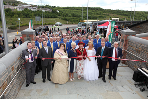 The new Bargoed bus station gets its official opening