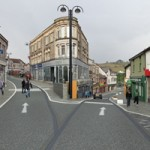 An artist's impression of what Bargoed High Street will look like after the works