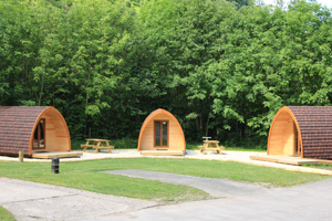 The three 'glamping' pods which helped Cwmcarn Forest campsite get its four-star rating