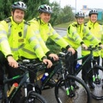 Caerphilly's team of community safety wardens with their new bikes