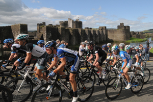 The Tour of Britain was worth an estimated £300,000 to the Caerphilly town economy