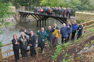 The Iron Bridge near Draethen has been re-opened