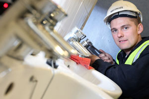 Rhys West is a finalist in the Apprenticeship Awards Cymru