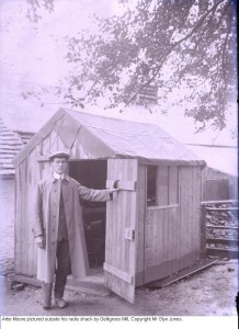 Artie Moore and his shack where he experimented with radio