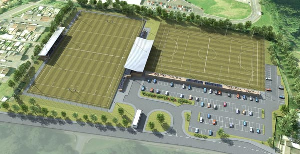 An artist's impression of what the new £6m sports centre of excellence could look like