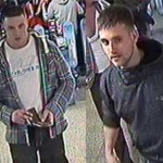 British Transport Police would like to speak to these men in connection with a racially aggravated assault and theft which took place at Cardiff Central train station