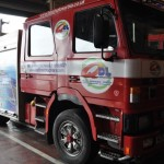 One of the old fire engines which has a new home in Serbia