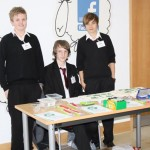 Year 10 pupils Scott Browne, Shane Higginson and Kerry Harris have ventured into the field of eco-merchandise