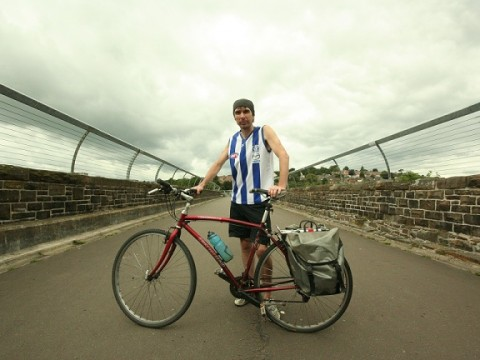John Chick has set off on a 10,000km bike ride to Istanbul