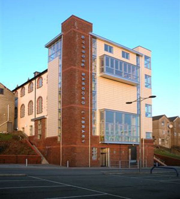 The test centre is located at the read of Bargoed Library in its car park