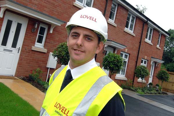 Lovell site manager Paul Phillips at the Parc Eglwys housing development at Bassaleg