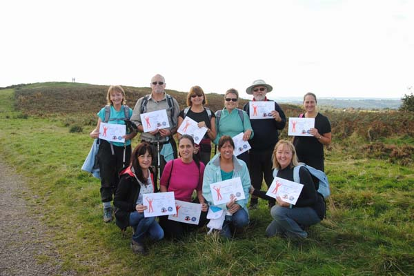 A group of walkers who took part in the Caerphilly three peaks challenge in aid of the Miners Community Centre