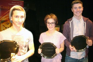 Competition winners Luke Moses, Bethan Phillips and Zack Simic
