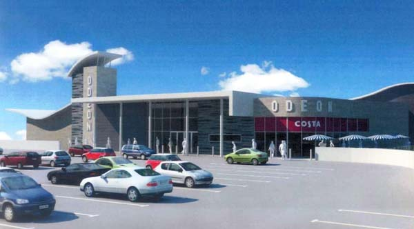An artist's impression of the planned Odeon in Bargoed