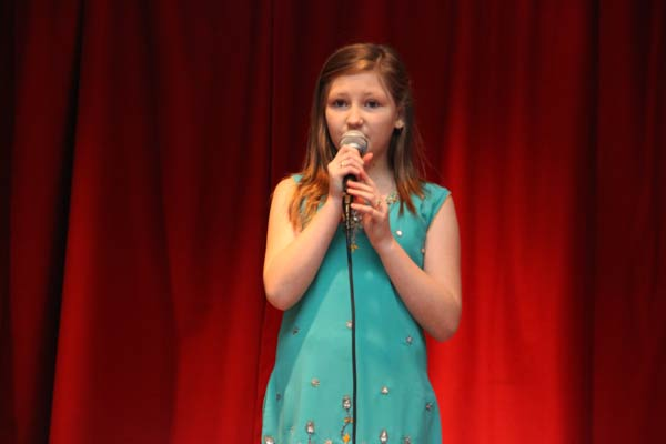 Chloe Goddard, 12, is hoping for success at the Teenstar Regional final in Cardiff