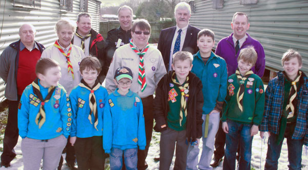 Miranda Holmes, centre, is the new District Commisioner for Caerphilly Scouts