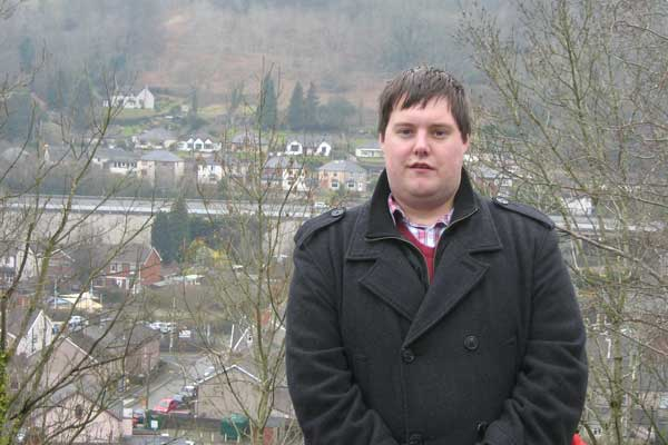 Matthew Farrell is Plaid Cymru's candidate to fight the Risca East by-election