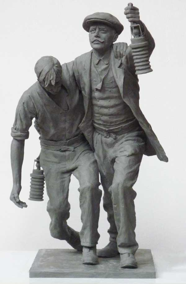 A model of the statue that will be placed at the National Mining Memorial at Senghenydd
