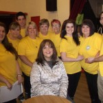 Ruth Jones with some of the participants of the charity walk in aid of the Lullaby Trust