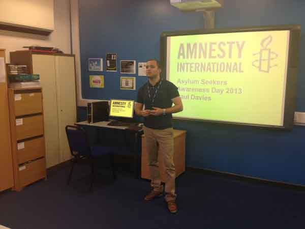 Paul Davies is training to become the one of the first Amnesty International UK tutors in Wales