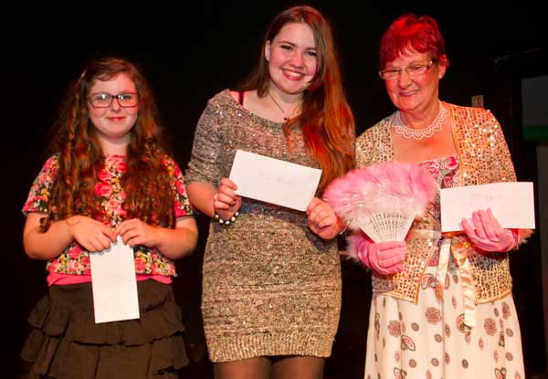 WINNERS: (left to right) Rosie May Newman, Beth Bryant, Mary Osborne. Picture by Carl Jones