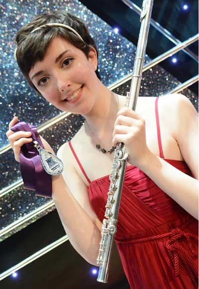 Flautist Chloe Angharad-Bradshaw, from Hengoed, is the winner of the £4,000 Bryn Terfel Scholarship