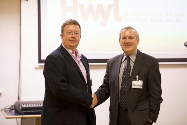HWYL: Simon Jones, founder of Hwyl, with Welsh ICE mentor Brinley Groves