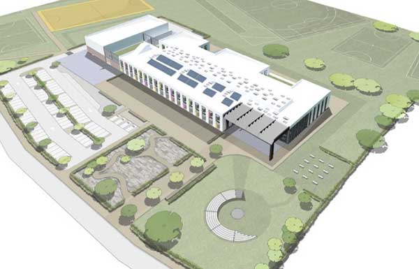 NEW SCHOOL: An artist's impression of the new building planned for Oakdale