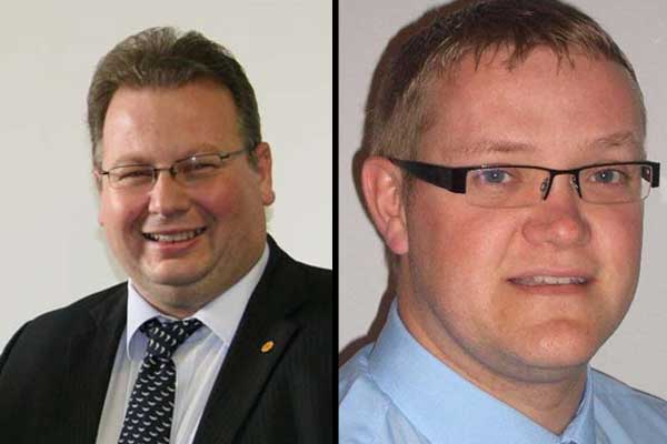 CANDIDATES: Plaid Cymru's Andrew Farina-Childs and Labour's Allan Rees