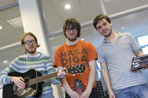 ROCKED: (left to right) RecRock's Greig Halliday, Jack Cooper and Dan Fitzgerald