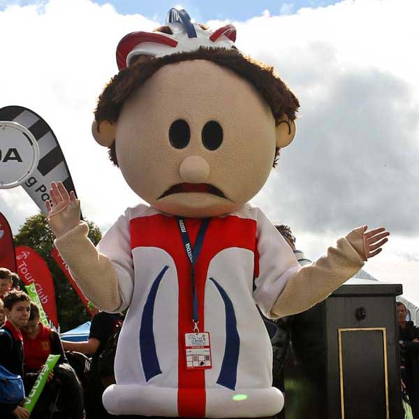 NO RETURN: The Tour of Britain's mascot will not be visiting Caerphily this year