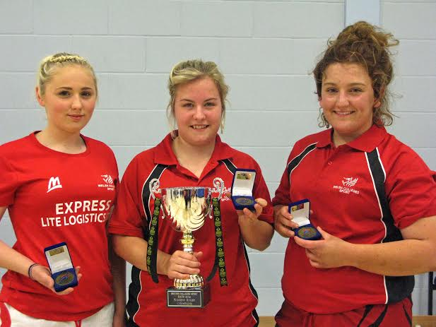 Annie Bevan, Megan Daley, and Brook Jenkins, all 17, were part of the Welsh Women's Rugby Sevens team who won gold at the championships.